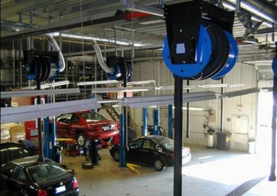 Vehicle Exhaust Extraction Systems - Hose Reels - Texas Electronics