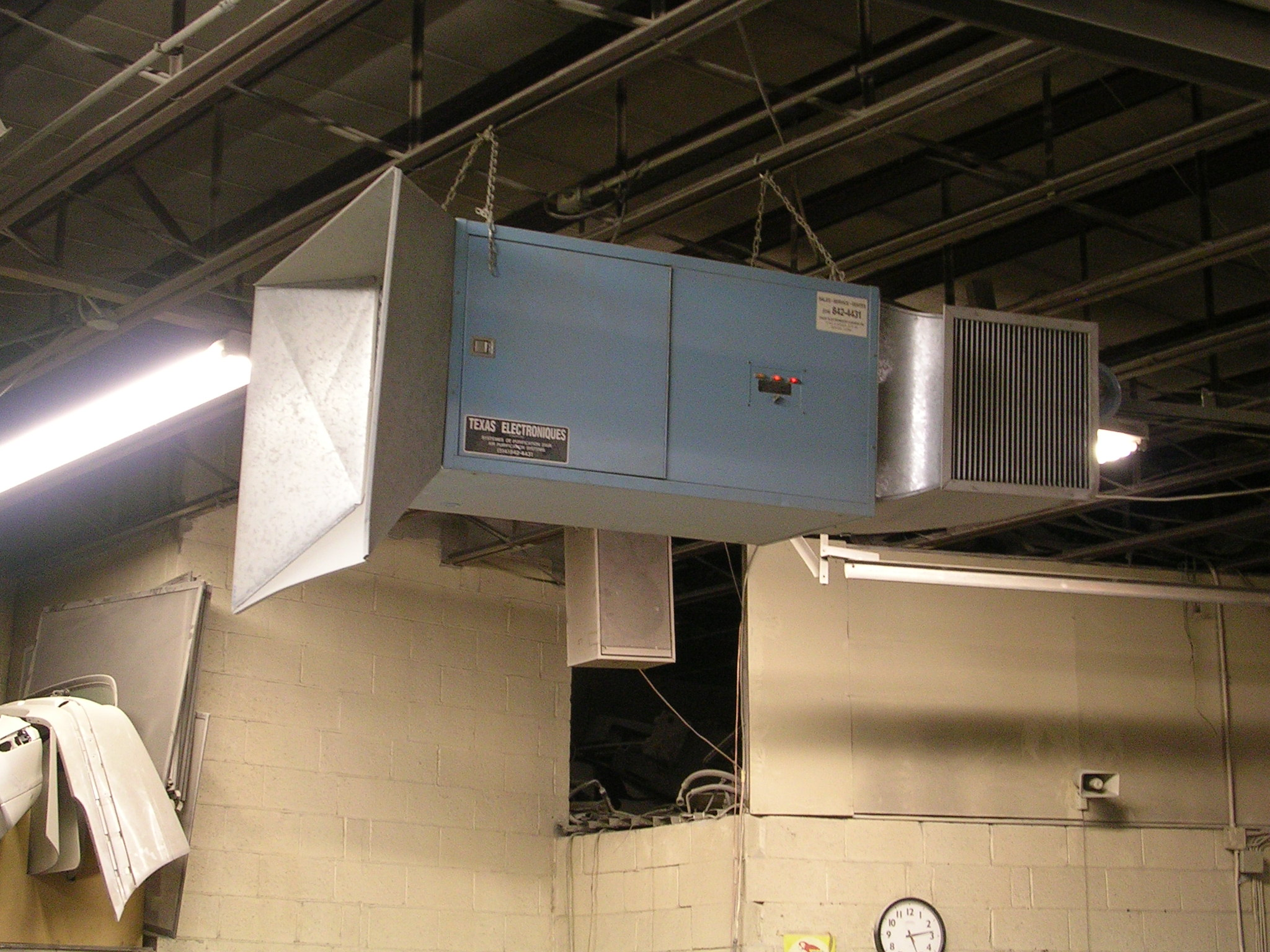 Commercial Air Cleaner Dust : Industrial air cleaner texas electronics canada inc