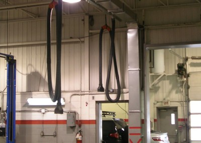 Cord and pulleys exhaust systems (5)