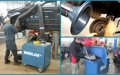 PORTABLE AIR CLEANER FOR DUST REMOVAL AT THE SOURCE